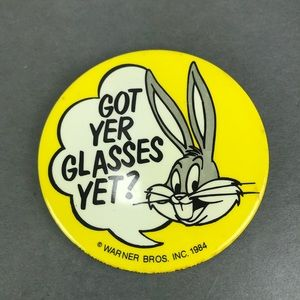 Vintage bugs bunny novelty button pin
